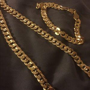 14k gold Cuban set fused